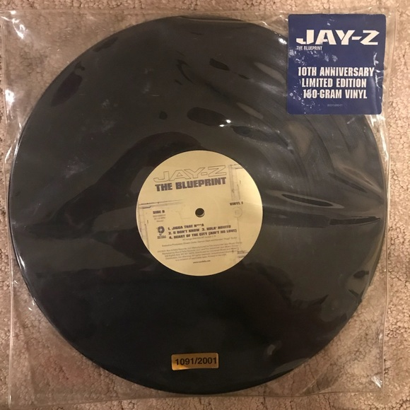 Vinyl other limitededition jay z the blueprint poshmark limited edition jay z vinyl the blueprint malvernweather Gallery
